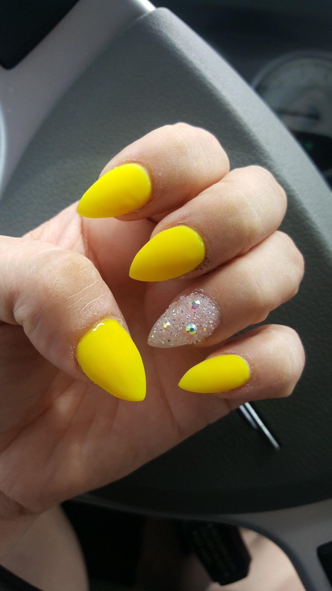 Yellow Stiletto Nails Yellow Nails Stiletto Nails Designs Yellow Nails Design