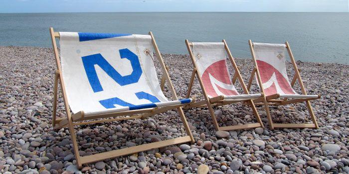 sailcloth beach chairs hardwood chair mat deck summer house sailing outfit sailboat