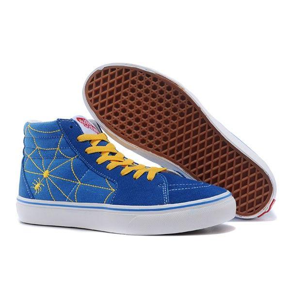 Vans Sk8-Hi Shoes MensWomens Classic Canvas Sneakers Blue Spiderman  [vans4u4089] - $39.99