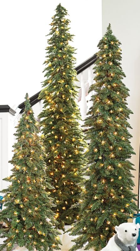 Down Swept Slim Pine Christmas Trees Grandin Road Slim Christmas Tree Pine Christmas Tree Pencil Christmas Tree