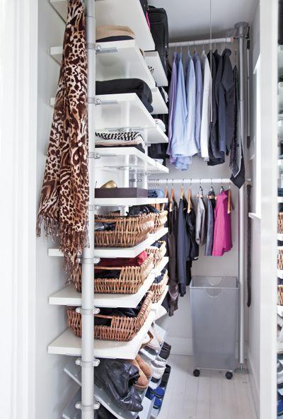 A minimalist closet