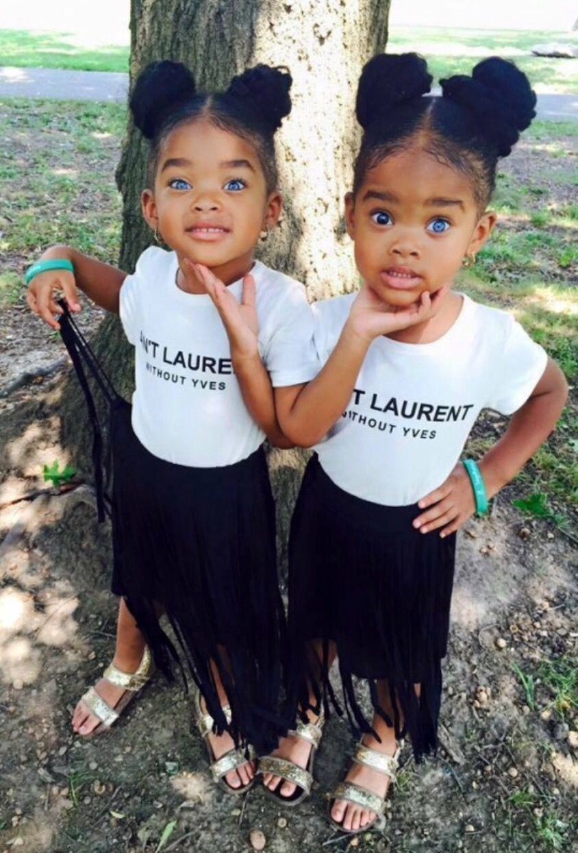 Twin beauties black girls rock black love black girl magic black is beautiful