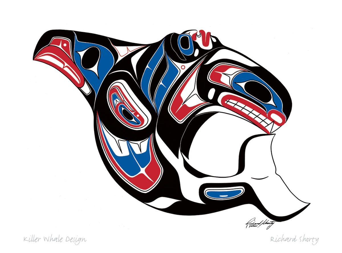 Haida Art Whale Pin on Northwest Indian Artwork