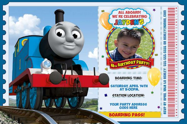 Free Attractive Thomas The Train Birthday Invitation Ideas