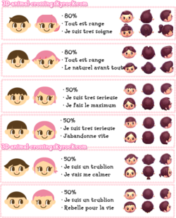 Les coiffures d'animal crossing new leaf Animal Crossing