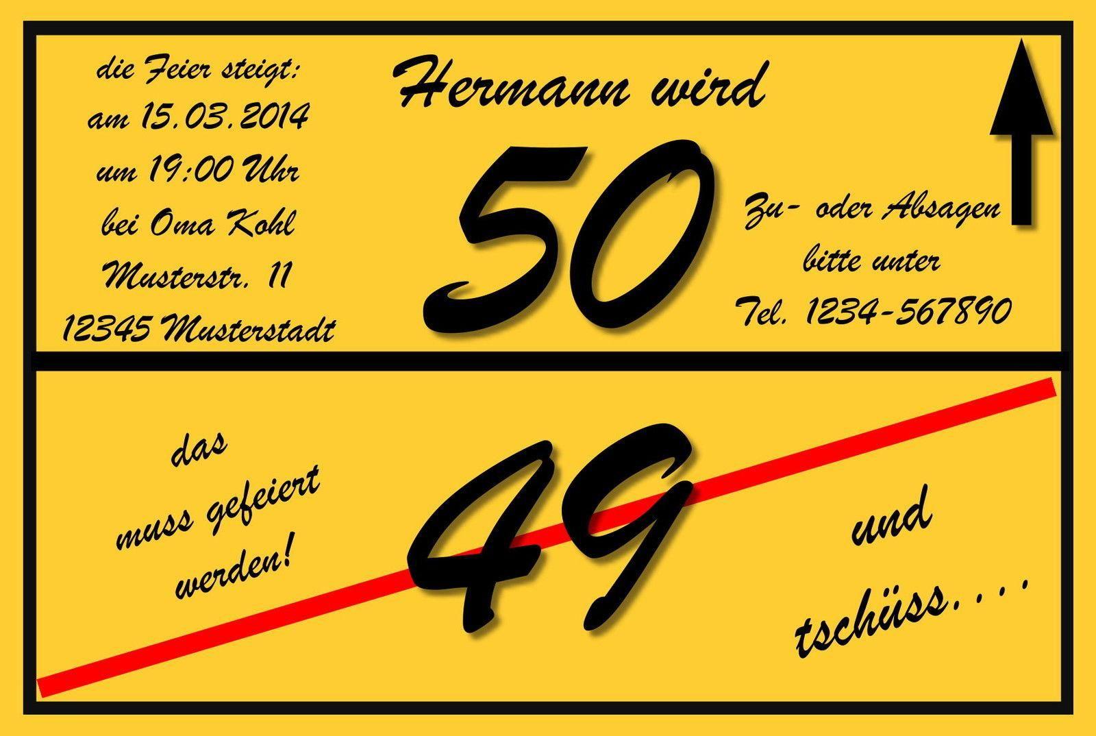 superior 50 geburtstag einladungskarten #3: einladungskarten-zum-50-geburtstag-spruche