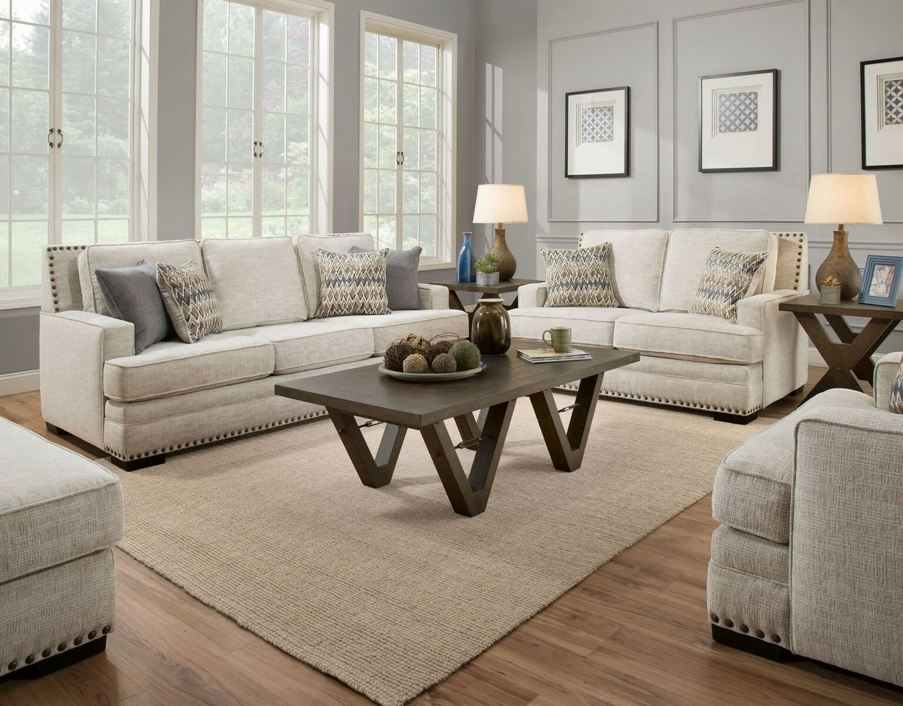 Discount Living Room Furniture Sets Modern Interior Pictures Albany Symbio Cream Sofa Loveseat Set 488 Savvy