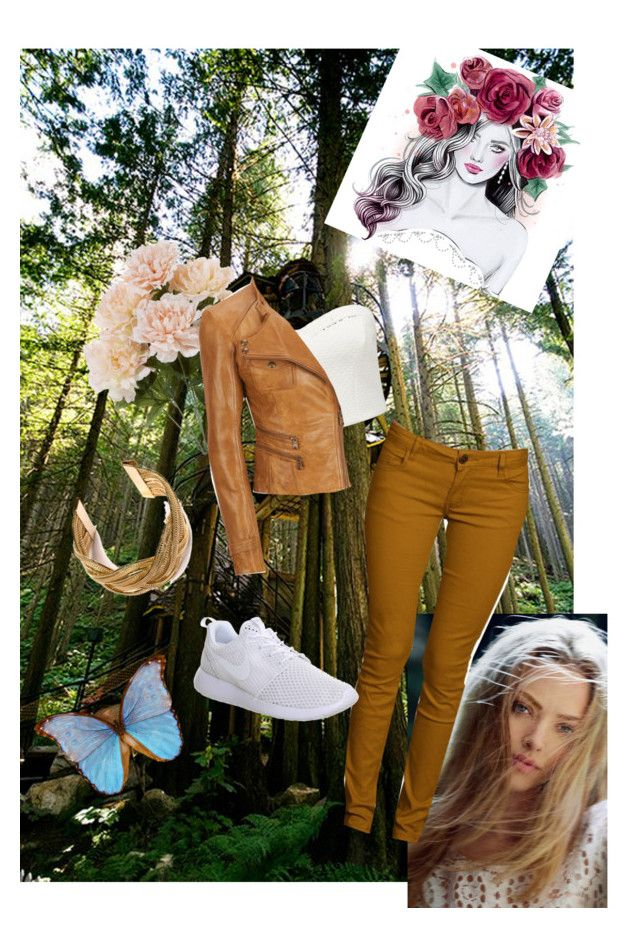 """""""Forest"""" by mylovelyparadise ❤ liked on Polyvore featuring Forever New, Andrew Marc and NIKE"""
