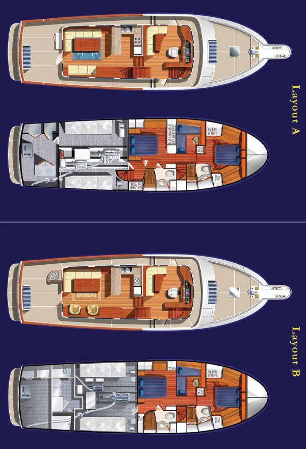 Layout - Selene Trawlers   Boat building, Yacht design, Boat