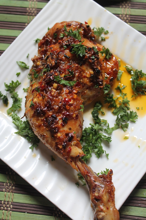 Baked Garlic Amp Herb Chicken Recipe Roast Chicken With Garlic Herb Butter Herb Chicken