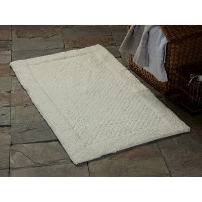 Saffron Fabs 2 Piece 100% Soft Cotton Bath Rug Set Color: Ivory