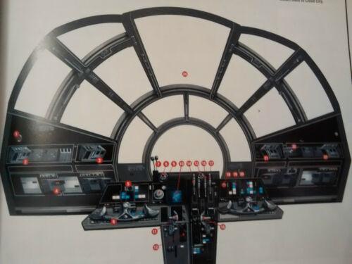 Star Wars Model Fibre Optic Large Millennium Falcon Front Cockpit Controls Set Star Wars Models Star Wars Room Millennium Falcon