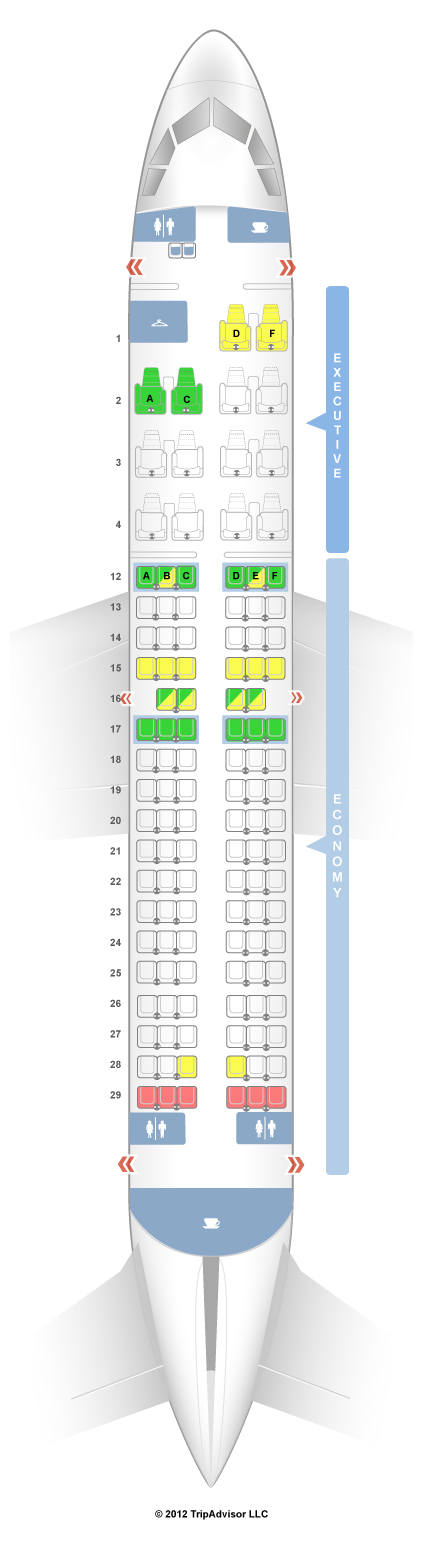 Seatguru Seat Map Air Canada Airbus A319 319 Seatguru Economy Seats British Airways