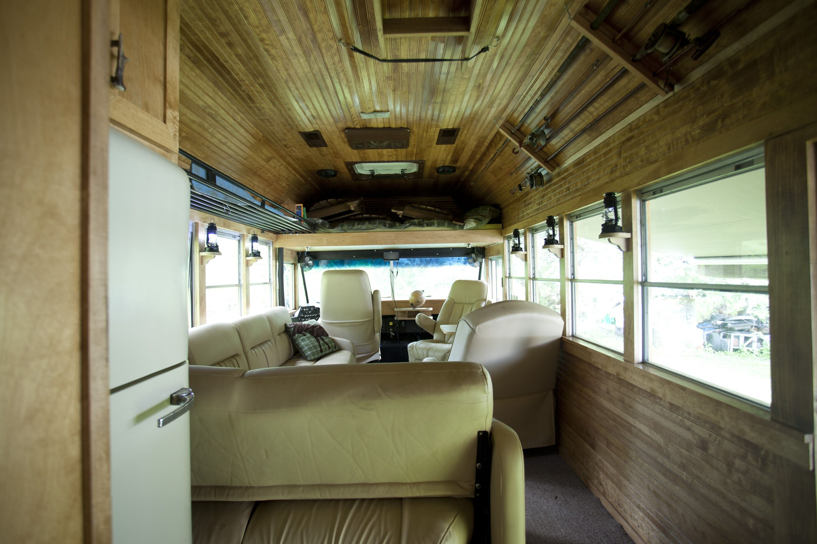Converted School Bus Interiors