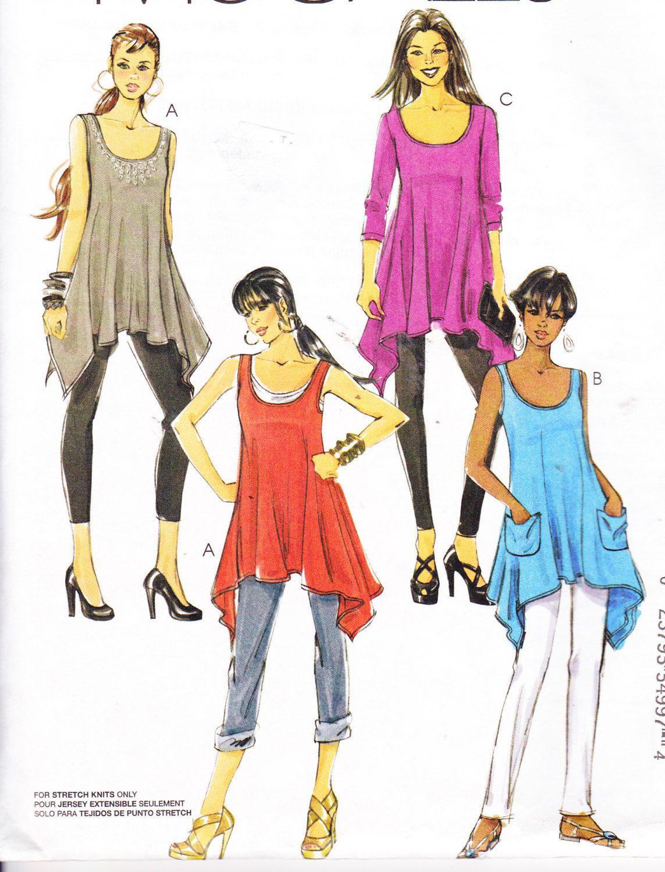 Womens sewing pattern tunic and tank top mccalls 6121 sizes 4 14 womens sewing pattern tunic and tank top mccalls 6121 sizes 4 14 bust 295 jeuxipadfo Choice Image