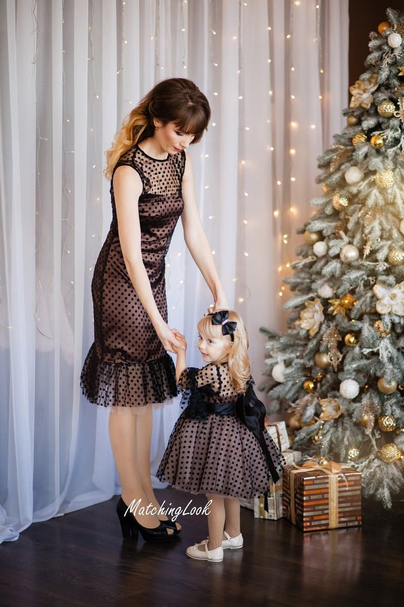 Matching Mom And Baby Christmas Dress Polka Dot Mommy And Me Dress Mother Daughter Matching Outfit Matching Dress Mommy And Me Outfits Mom Daughter Matching Dresses Mom And