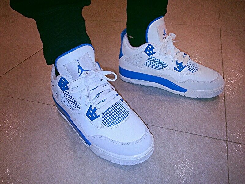 wholesale dealer 1cfb5 0efb8 Military Blue 4s | My Sneakers | Sneakers nike, Lit shoes, Shoes