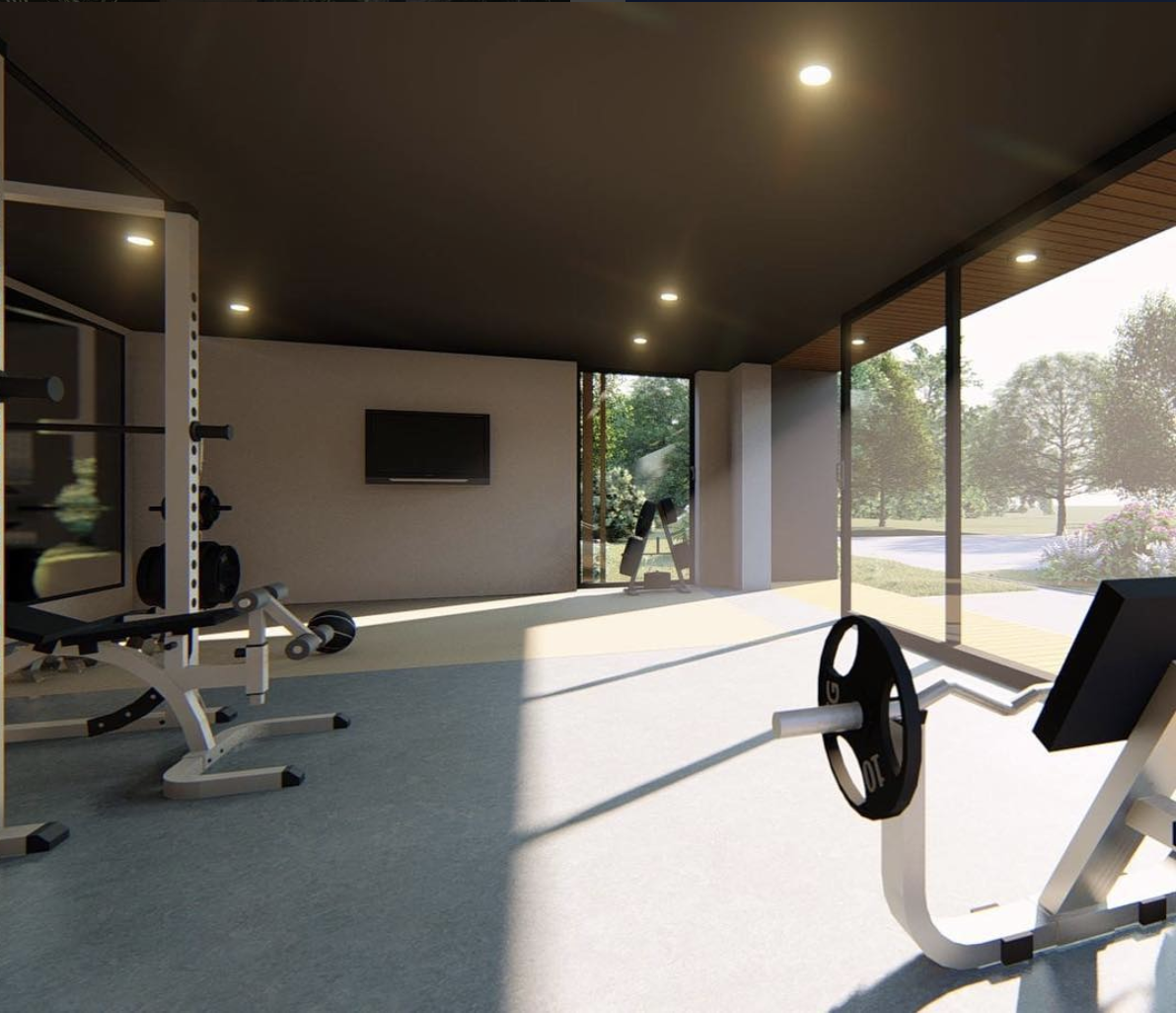 Smartbespokespacesour latest gym garden room for a client in