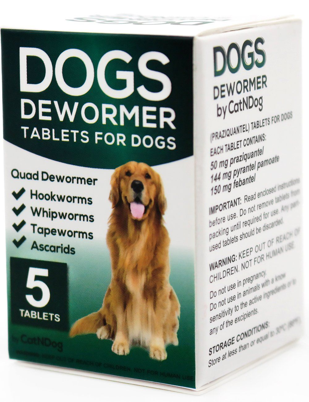 Catndog Quad Dewormer For Dogs Medicine Pills Wormer For Large