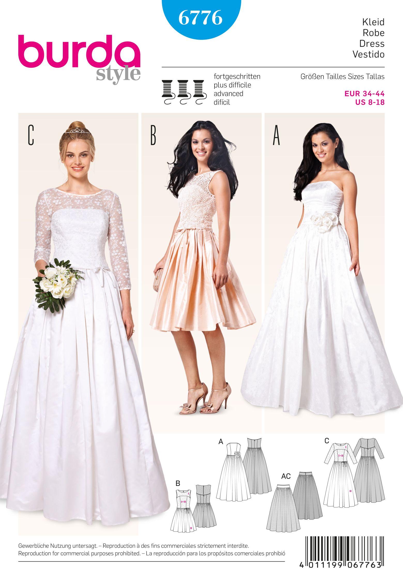 Burda 6776 Burda Style Evening & Bridal Wear | Pinterest | Burda ...