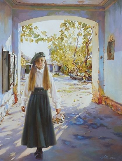 Hope. by Victoria Radionova Oil ~ 35,82 in (91 cm) x 27,16 in (69 cm)
