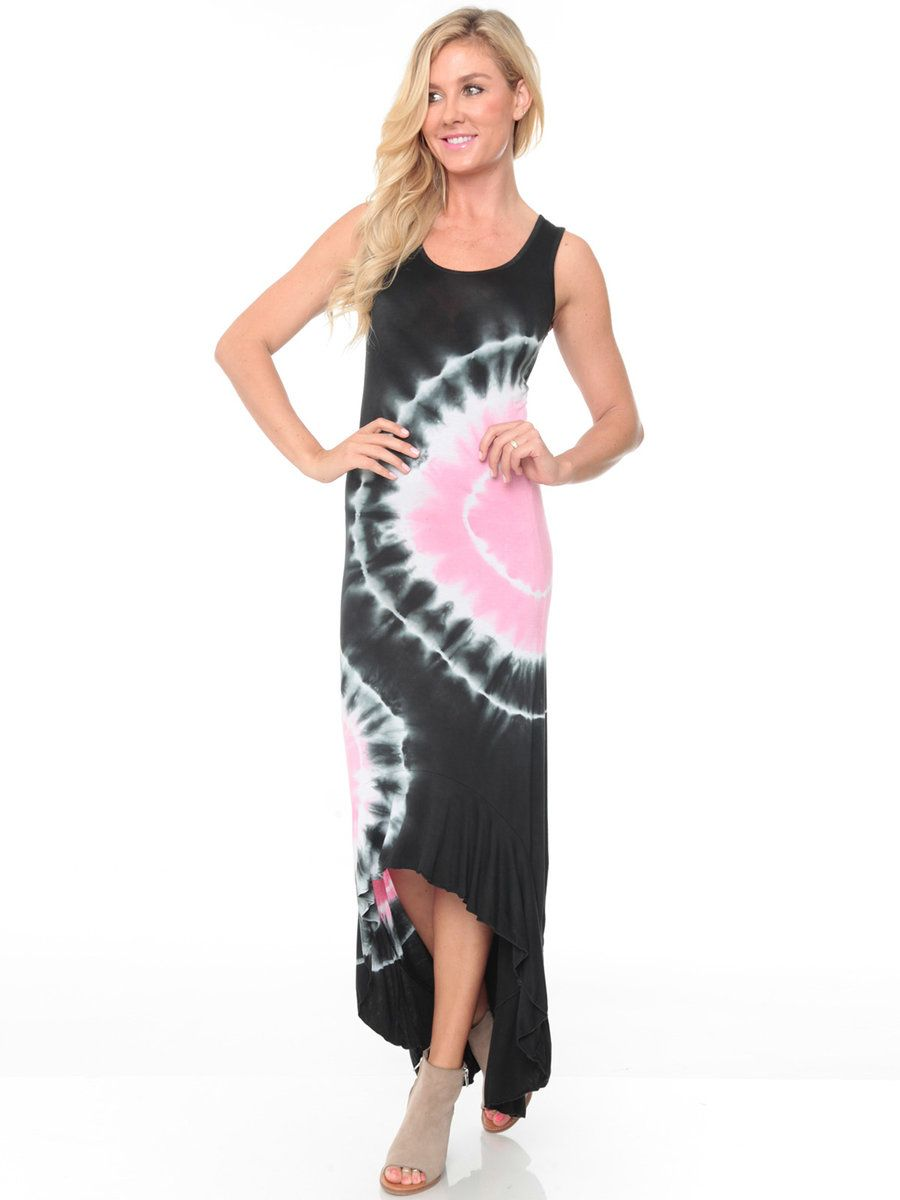 24a0dace27b69 Create a look you ll love with this women s tie-dye maxi dress from White  Mark