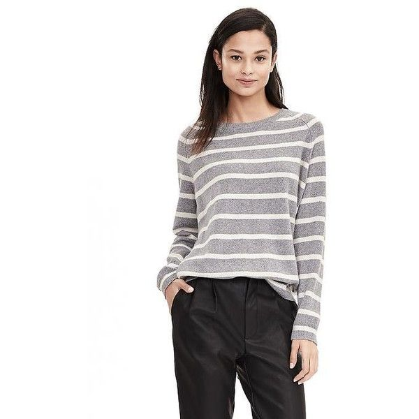 Banana Republic Womens Todd & Duncan Striped Cashmere Crew ...