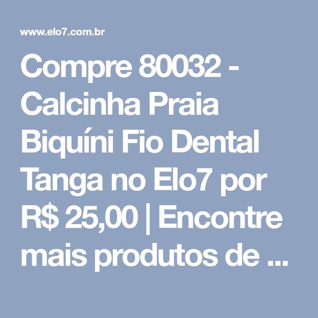 Compre 80032 Calcinha Praia Biquíni Fio Dental Tanga No Elo7 Por R