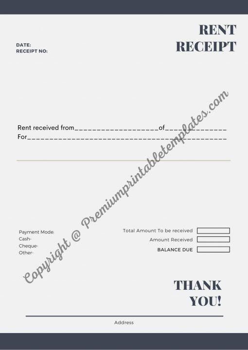 Printable Rent Receipt Pdf Word Premium Printable Templates Template Printable Receipt Template Change Logo