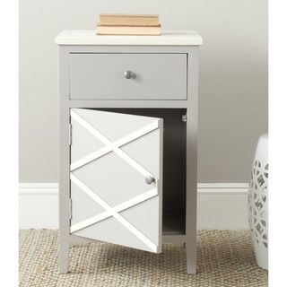Best Safavieh Alan Grey White End Table Amh6598A White End 400 x 300