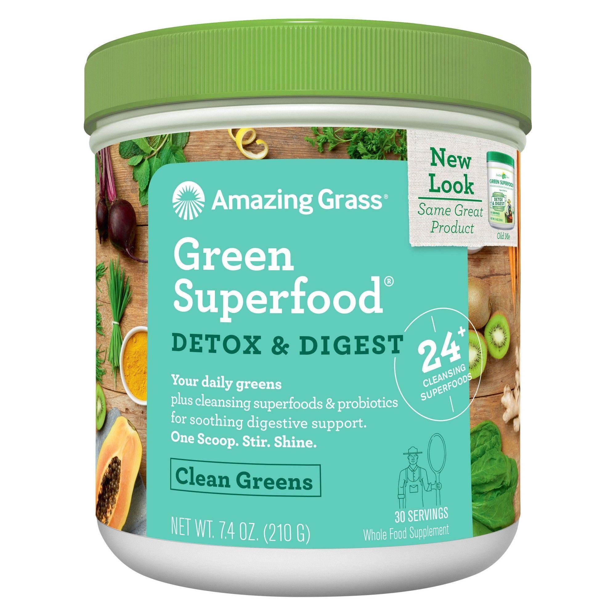 Amazing Grass Green Superfood Detox & Digest - Clean Greens - 7.4oz