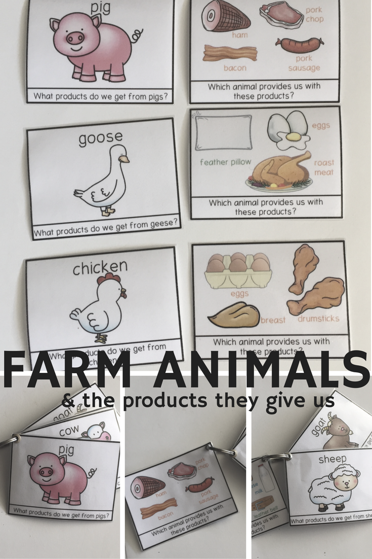 Farm animal products cards and more farm animal themed cards and ...