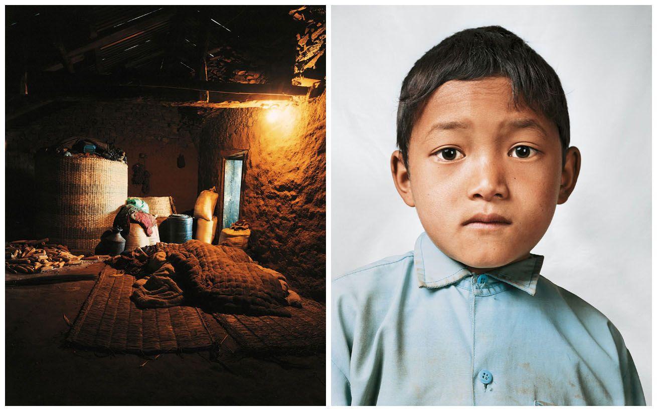 Where children sleep. Bikram in Melamchi, Nepal.