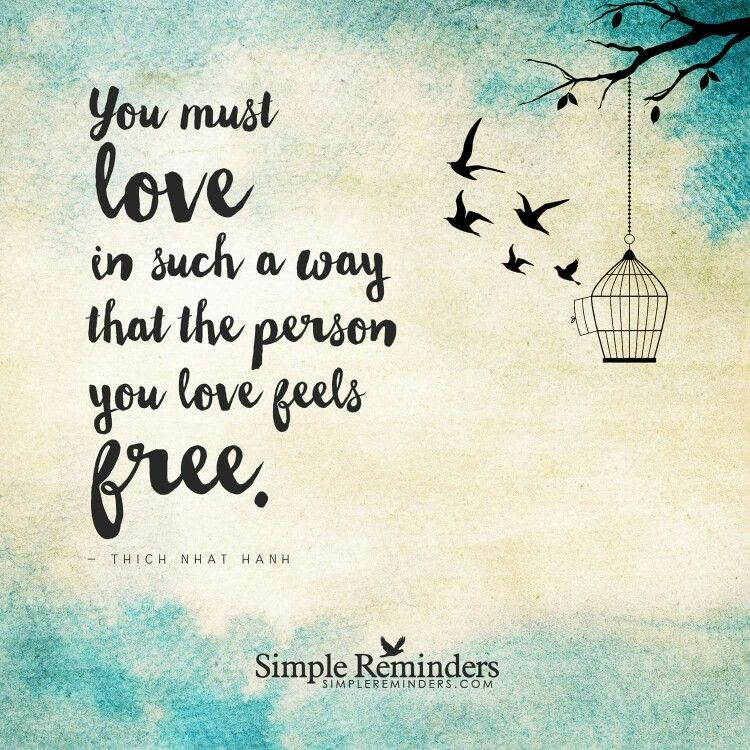 Love that makes you both feel free (not trapped)! | Simple ...