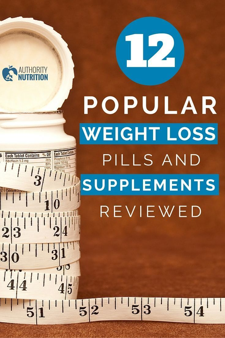 Here are the 12 most popular weight loss pills and supplements, reviewed by science.