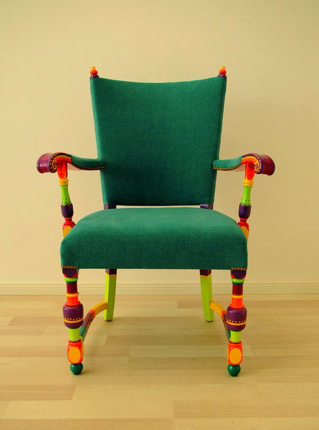 Bunter Sessel bunter sessel mit armlehnen unikat polsterstuhl colorful chair