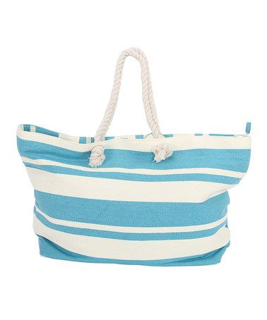 Another great find on zulily! Blue Tropical Tote by DEI