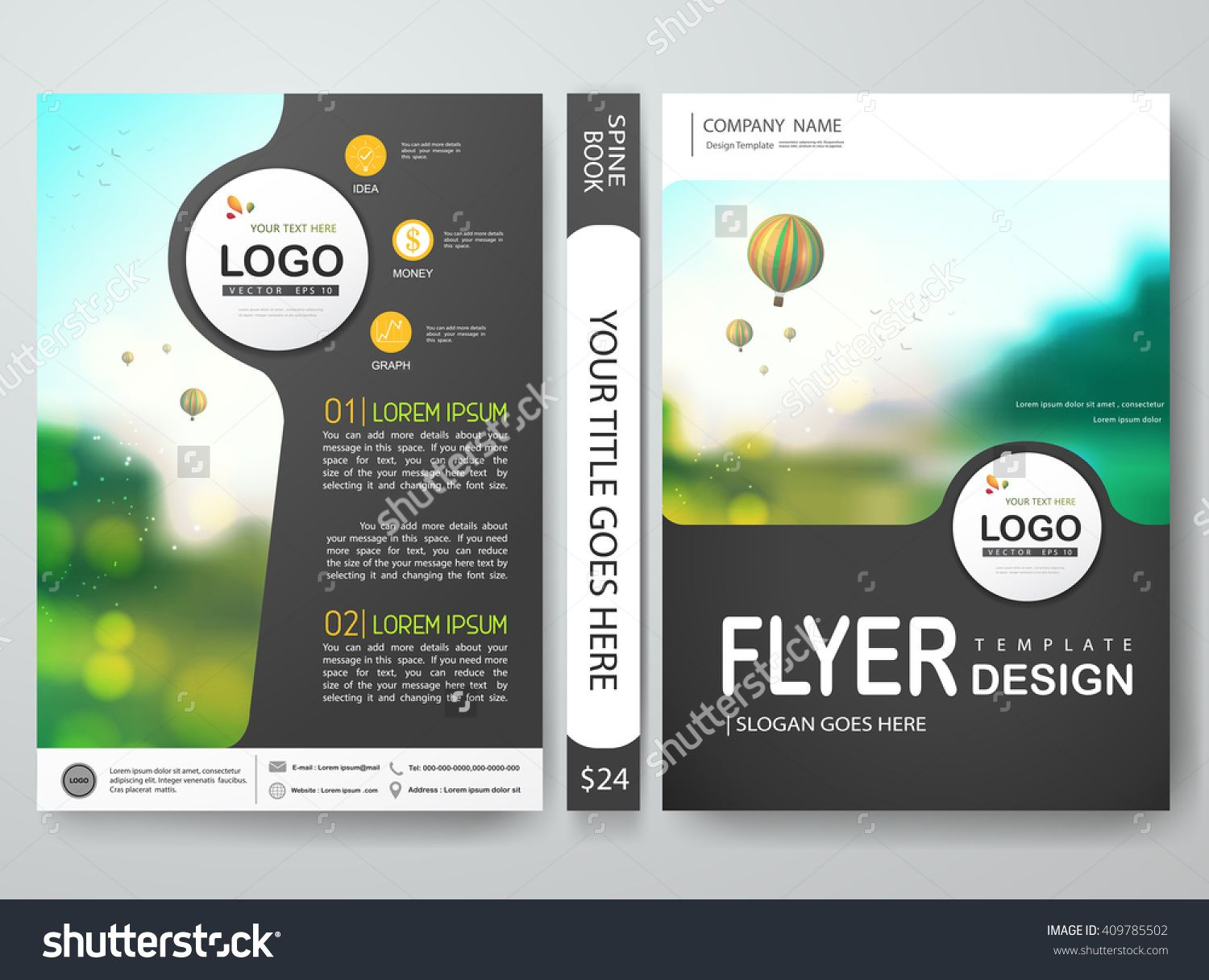 Flyers design template vector brochure report business magazine flyers design template vector brochure report business magazine poster cover book minimal portfolio presentation and abstract gray layout in a4 size wajeb Choice Image