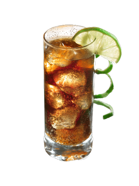 Cocktail cuba libre original rhum coca et rondelle de for Cocktail avec rhum