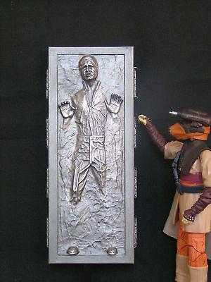 "Star Wars black series  6/"" pre-finished Carbonite cast Han Solo Boba Fett Jabba"