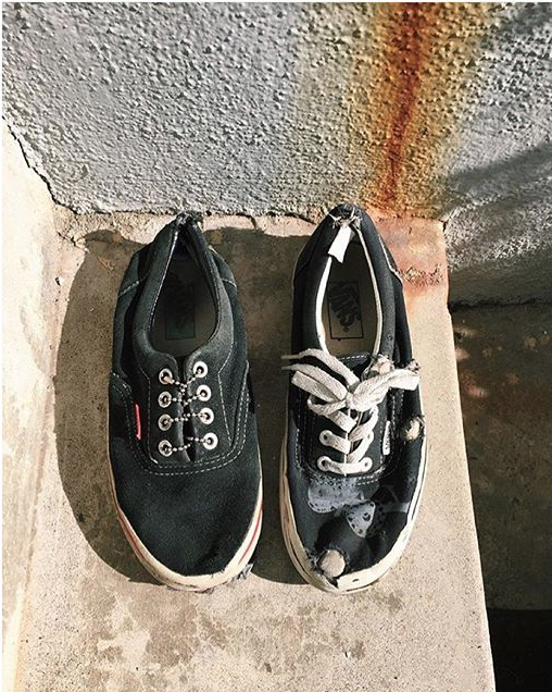 To the Core: @lizziearmanto's most loved pair of kicks. How loved are yours? #vansgis