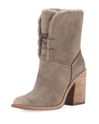 77975230f6bd Jerene+Shearling-Lined+Ankle+Bootie+by+UGG+at+Neiman+Marcus.
