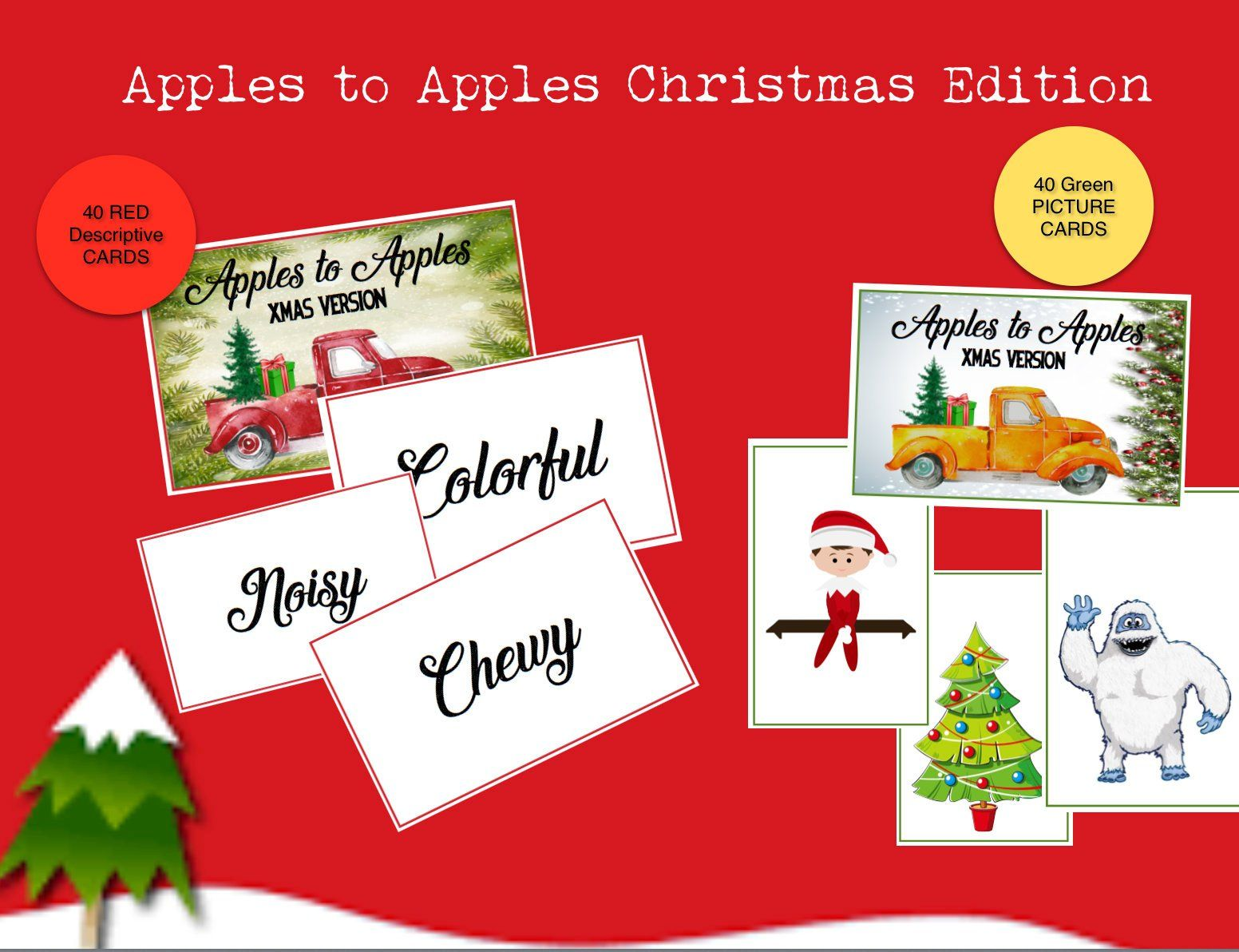 graphic regarding Apples to Apples Cards Printable referred to as Apples in the direction of Apples Xmas Model! Printable Playing cards towards perform