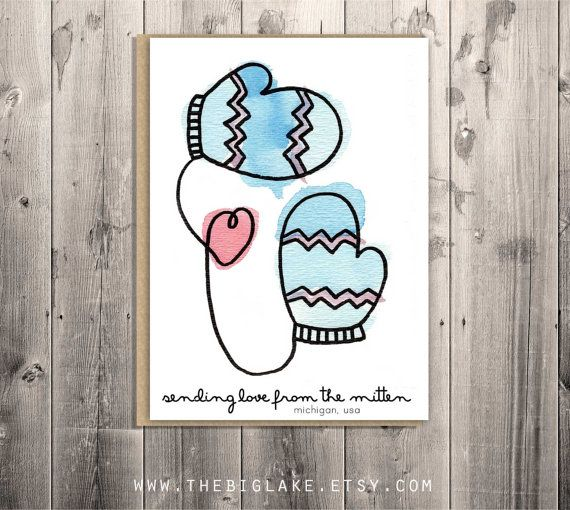 Love from the mitten greeting card mittens michigan winter love from the mitten greeting card mittens michigan winter love m4hsunfo Images