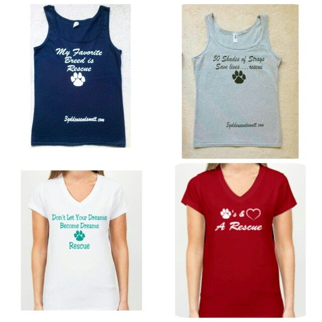 Shop 3 Goldens and a Mutt for great discount shirts supporting animal rescue!