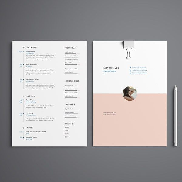 Illustrator Resume Templates Free Minimal Curriculum Vitae Template Illustrator  Http