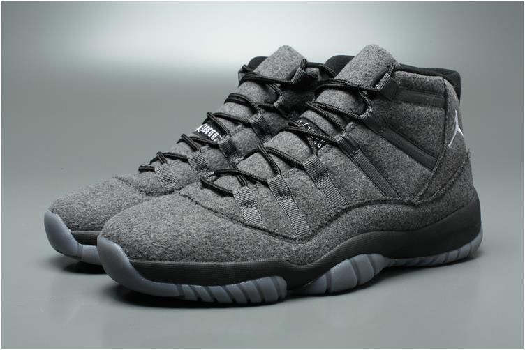 9b3031bca7c Nike Air Jordan XI 11 Retro AJ11 Wool Men Shoes Grey4 | Jordans ...