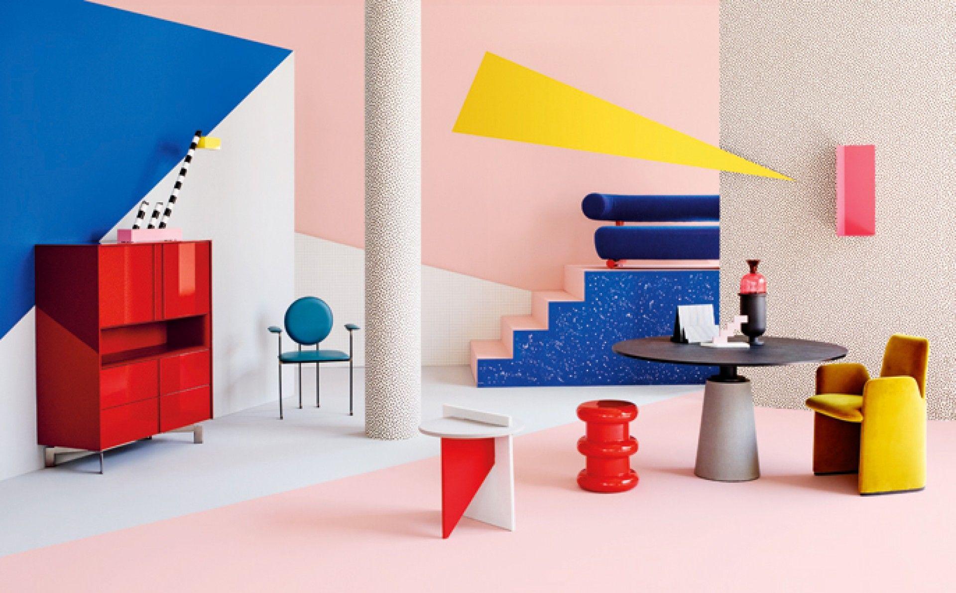 Neo Memphis Editorial Set Design For Elle D Cor Italia 2015  # Muebles Postmodernos