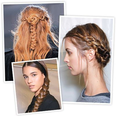 Braids aren't going anywhere this season. In fact, if popular hashtags are any indication, they may soon overtake the ubiquitous pony. Part of their appeal? The breadth of options. Whether you fantasize about channeling a rock and roll princess (Rodarte), an innocent Dutch schoolgirl (Valentino), or a Renaissance maiden (Viktor & Rolf), there's variety out there that's easy to re-create for everyone (no master's degree in hairdressing required).