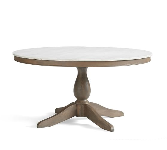 Alexandra Round Marble Pedestal Dining Table Marble Pedestal